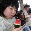 昨日のおまけ…仕事の合間にスイカを食べ、大満足な四人娘でした。