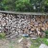 パン作りの後に、クリームつくりと薪割りもし、盛り沢山な一日でした。