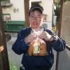 竹林の手入れをしていると、和也さんがパンを買いにやってきてくれました。ありがとうございました。