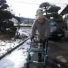 こちら阿蘇は、ごらんのとおり寒い一日でしたが、長老幸範氏は、97歳の散歩に出かけられました。
