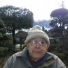 長老、竹原幸範氏との散歩の間、阿蘇山からは黒い噴煙が立ち昇っていました。