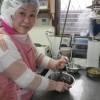 メロンパンのクッキー生地も綺麗にできました。