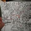 パンづくりの合間に、細かなイラストを描くユウコさんです。