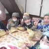 阿蘇西小学校の4年生のみなさん(19名)が総合的な学習でパン作り体験にやってきてくれました。