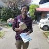 日本基督教団錦ケ丘教会川島直道牧師と大津町子どもサポネット小平善行さんが支援品を持ってきて下さいました。
