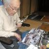 98歳と6か月の夢屋の長老竹原幸範さんが入院から三か月ぶりに外出許可が下り、ご自宅の地を踏まれました(その2)