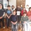 浦上秀樹さんが野菜ty(のなてぃー)で「MOJI art(こころ文字)」の実演会をして下さいました。夢屋のメンバーのユウコさんも感激していました。ありがとうございました。