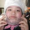 パン作りの合間に氷で遊んでみました。
