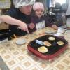 小国支援学校の現場実習~3日目 パン作りの基礎勉強のため、手捏ねで焼いて食べるグルテンパン作りをしました。