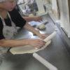 パン作りも順調です。ご近所からいただいたトウモロコシを湯がいていただきました。