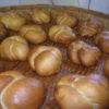 今日はこうきさんもパン作りに加わっています。しっかり膨らんでくれました。
