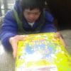 小さい仲間さんが誕生日のお祝いのお礼を言いに、朝からやって来てくれました。ありがとうございました。