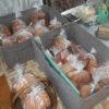 今日はまた皆でパン作りをしています。ご近所からできたての新鮮な高菜漬けをいただきました。
