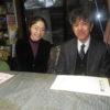 山田小学校から、来週の体験学習の打ち合わせに先生が来られました。
